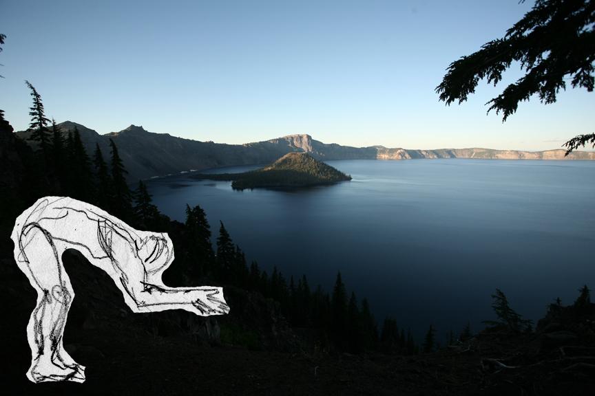 Crater lake diver